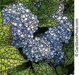 Abstract kreist mosaische Hintergründe Naturmuster.
