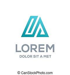 Abstract Logo Symbol Design Vorlage Elemente mit Buchstaben A, Haus und Pfeil.
