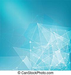 Abstract mesh Netzwerk Hintergrund für Technologie, Geschäft.