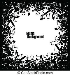 Abstract Musik Hintergrund mit Noten, Vektor.
