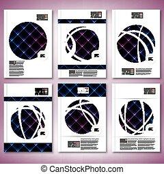 Abstract Neonlicht schwarz Textur. Brochure, Flyer oder Bericht für Geschäft, Vorlagenvektor