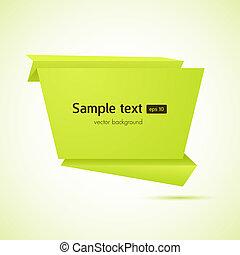 Abstract origami Sprachblasen vektor Hintergrund.