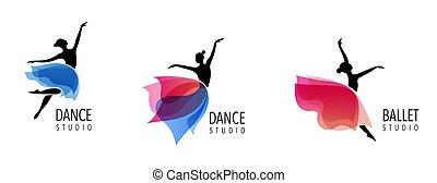 Abstract people Logo Design. Gym, Fitness, laufender Trainer Vektor, buntes Logo. Aktive Fitness, Sport, Tanz Web Icon und Symbol