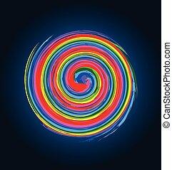 Abstract Spiralwellen Regenbogenfarbe.
