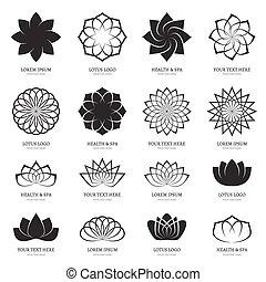 Abstract Vektor Lotusblumen für Spa, Yoga-Klasse, Hotellogos