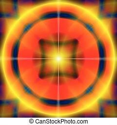 Abstract von farbigem Kreismuster Hintergrund.