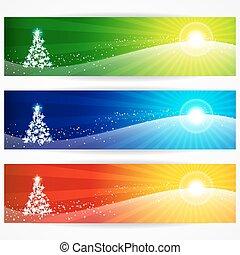 Abstract Weihnachtsbanner für Ihren Design-Header.
