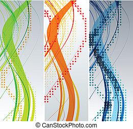Abstract Wellen Hintergrundkomposition.