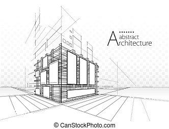 abstrakt, architektonisch, hintergrund