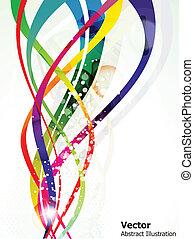 Abstrakt farbenfrohe Welle