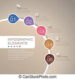abstrakt, flussdiagramm, infographics