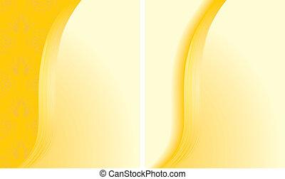 abstrakt, hintergruende, zwei, gelber