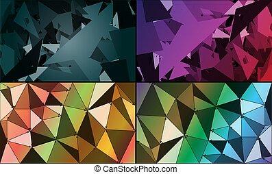 abstrakt, hintergrund, geometrisch, satz