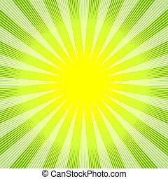 abstrakt, hintergrund, grün-gelb, (vector)