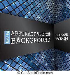 abstrakt, vektor, perspektive, hintergrund, rhombus