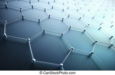 Abstrakte axagonale Verbindungstechnologie