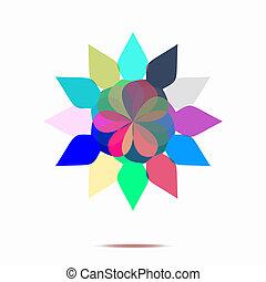Abstrakte Blume.