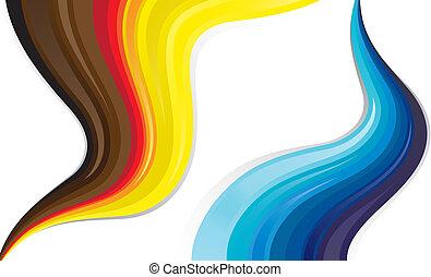 Abstrakte farbenfrohe Linien fließender Flüssigkeit
