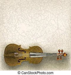 Abstrakte Grungemusik mit Geige