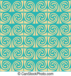Abstrakte Ornamente. Wellen Mosaik nahtlose Textur