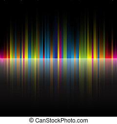 Abstrakte Regenbogenfarben, schwarzer Hintergrund