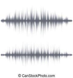 Abstrakte schwarze Schallwellenform