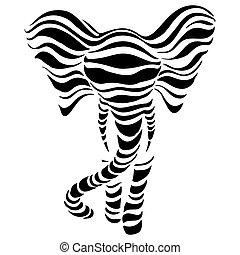 Abstrakte Silhouetten von Elefanten