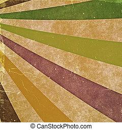 Abstrakte Strahlen. Vintage-Hintergründe mit alter Papptextur