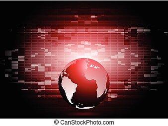 Abstrakte Technologie Weltkugel-Hintergrund.