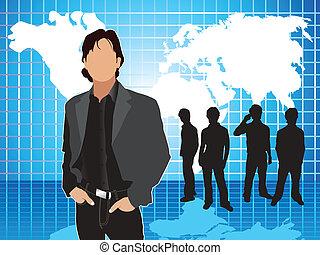 Abstrakter blauer Firmen-Hintergrund