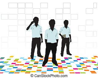 Abstrakter farbenfroher Firmenbackgro