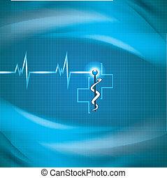 Abstrakter medizinischer Kardiologie-Hintergrund.