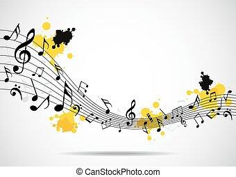 Abstrakter musikalischer Hintergrund ohne Nein.