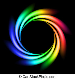 Abstrakter Regenbogenstrahl