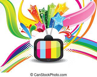 Abstraktes, farbenfrohes Fernsehen