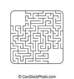 Abstraktes Labyrinth. Spiel für Kinder. Puzzle für Kinder. Maze conundrum. Vector Illustration.