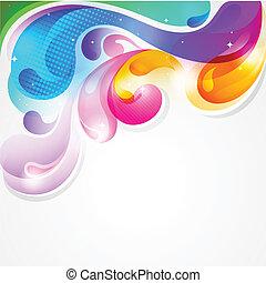 Abtrünnige farbenfrohe Farbe, Plattvektor-Hintergrund
