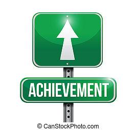 Achievement Street Schild Illustration Design.
