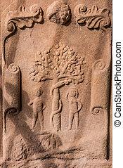 Adam und Eva in trockenburgh Abtei.