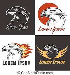 Adler-Emblem bereit