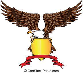 Adler mit Schild