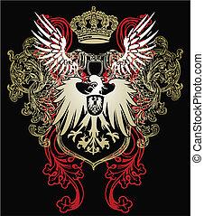 adler, ritterwappen, emblem