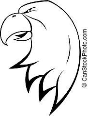 Adlerkopfsymbol.