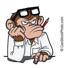 Affen denken die Jobs.