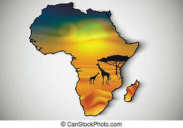 Afrika, Savanne Fauna und Flora.