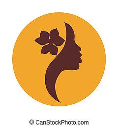 Afrikanische Amerikanerin Gesicht Ikone.