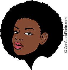 Afrofrisur amerikanische Frau