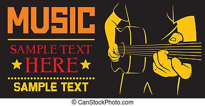Akustikgitarre spielt Poster
