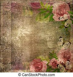 album, (, decke, raum, rosen, set), 1, text, weinlese