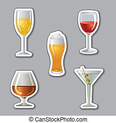Alkohol trinkt Aufkleber.